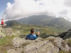 Vootele puhkehetkel mäe tipus